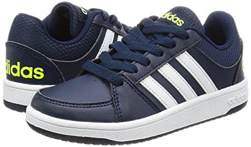 Adidas VS HOOPS K–Sneaker für Kinder, Blau–(Maruni/Ftwbla/Amasol),–33