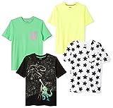Spotted Zebra Boys' Toddler 4-Pack Short Sleeve T-Shirts, Super Star, 2T