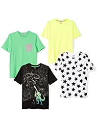 Spotted Zebra Boys Boys 4-Pack Short Sleeve T-Shirt