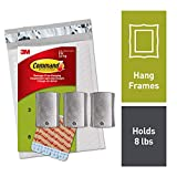 Command 8 lb Capacity Universal Frame Hanger, 3 hangers, 8 strips (PH048-3NA)