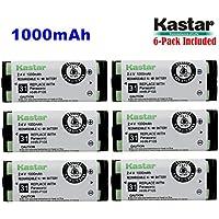 Kastar HHR-P105 Battery (6-Pack), Type 31, NI-MH Rechargeable Cordless Telephone Battery 2.4V 1000mAh, Replacement for Panasonic HHRP105 HHR-P105 HHRP105A HHR-P105A KX242 KX-242 KX2420 KX-2420 KX2421 KX-2421 KX2422 KX-2422 KXTG5779 KX-TG5779 Dantona BATT105 BATT-105 Empire CPH508 CPH-508 GE 86420 Lenmar CB0105 CB-0105 Avaya 3920 Interstate ATEL0014, TEL0014, TEL-0014