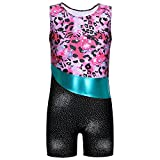 Little Girl One piece Colourful Ribborns Pink Flowers Gymnastic Athletic Leotard