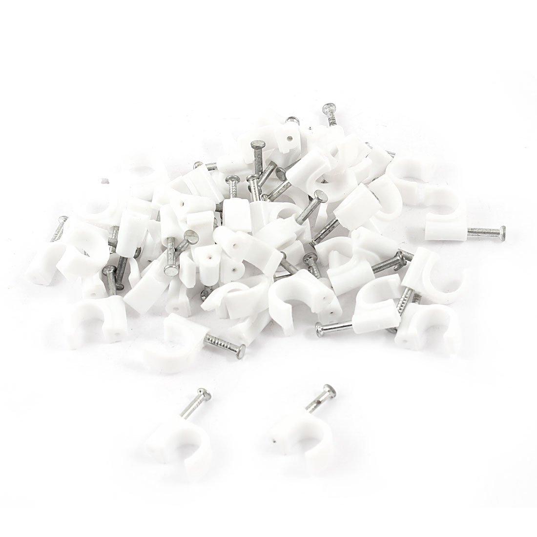 50 piezas 0, 79 cm 8 mm de cí rculos con Cable pinzas cierre w clavos de pared 79 cm 8 mm de círculos con Cable pinzas cierre w clavos de pared Sourcingmap a14061700ux0111
