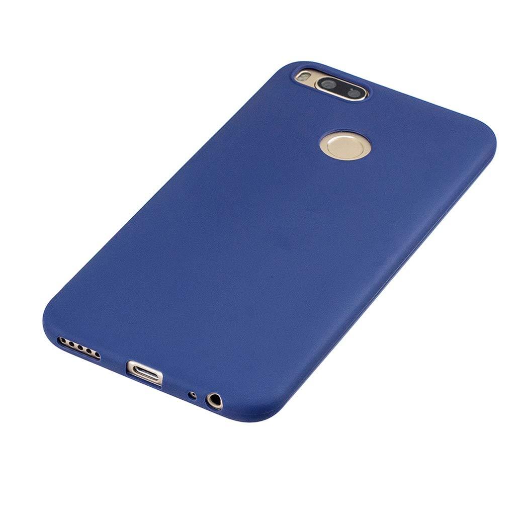 EuCase 3X Funda Xiaomi Mi A1 Silicona Carcasa Xiaomi Mi 5X Antigolpes Suave TPU Flexible Ultra Delgada Goma Cubierta Protector Bumper Case para Caja Tapa Carcasa Rojo Amarillo Azul