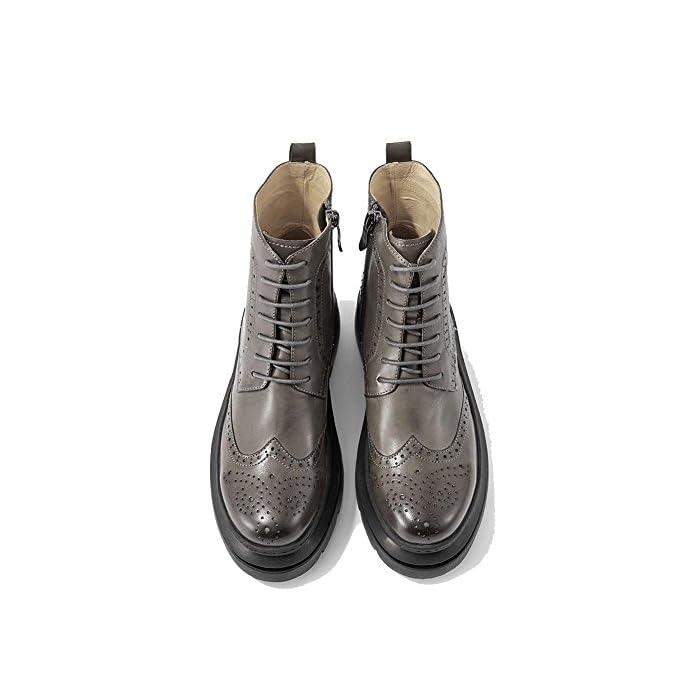 Le Signore Caviglia Stivali Cavo Pelle Foderato Imbracatura Grosso Bloccare Piatto Tacco Caldo Casuale Comfort Laccio Scarpe