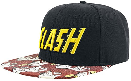 Bioworld Official Snapback- DC Comics Flash Halftone Snapback Hat One Size -