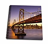3dRose 3D Rose Twilight at The Bay Bridge with San Francisco Beyond, California, USA - Memory Book, 12-inch (db_189524_2), 12'' x 12''