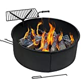 Sunnydaze Large Fire Pit Campfire Ring with BBQ Cooking Grate, Outdoor Camping Firepit Insert, Heavy Duty 2mm Thick Steel, 36 Inch Review