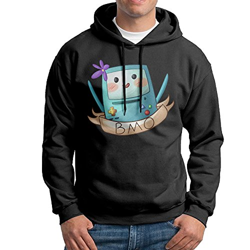 Marceline Costume Adventure Time (Curcy Adventure BMO Hoodies Hooded Sweatshirt For MenWalkSize L Black)