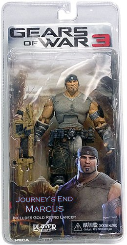 Gears of War 3 Series 3 Journey's End Marcus with Gold Retro Lancer 7 Inch Action Figure