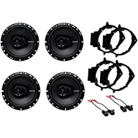 NEW ROCKFORD FOSGATE CAR TRUCK FRONT & REAR DOOR SPEAKERS W/ INSTALL KITS