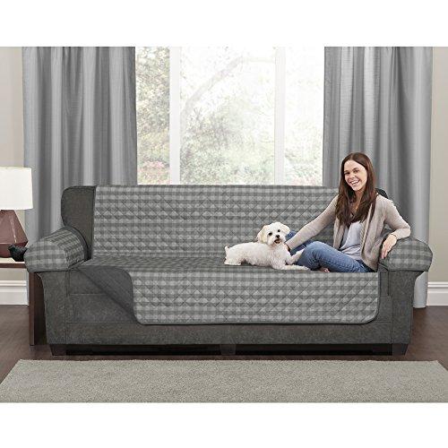 MAYTEX Buffalo Check 2 Way Sofa Cover, Grey