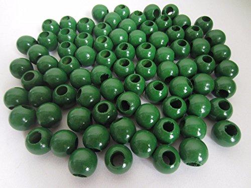 Bulk Buy:Pepperell Round Wood Macrame Craft Beads, 20mm, Kelly Green, (Green Wooden Beads)