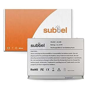 subtel® Batería premium (5400mAh) para Apple MacBook Pro 17 A1151 A1212 A1229 A1261 A1189 bateria de repuesto, pila reemplazo, sustitución