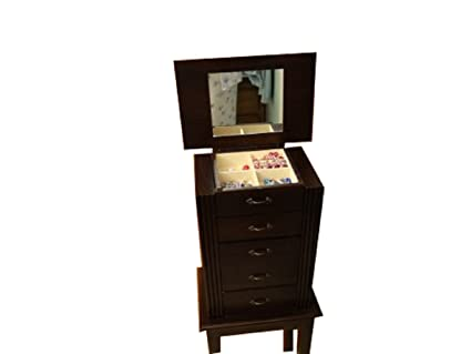 Amazoncom Five Drawer Jewelry Armoire Home Kitchen