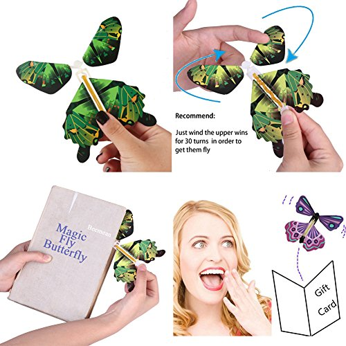 magic flying butterfly flies from cards letters books