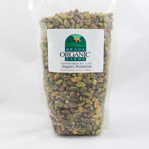 (Braga Organic Farms Kernels Pistachios, Roasted and Salted, 2 Pound)