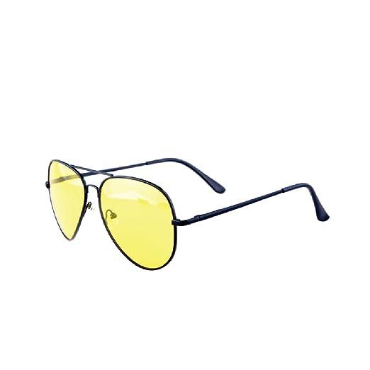0db47e1c49d3 Sxacntg Night Driving Glasses,HD Night Vision Glasses,Aviator Polarized  Yellow Lens for Car
