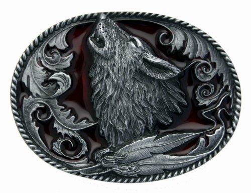 Howling Wolf Gürtelschnalle in einer meiner Präsentationsschachteln.