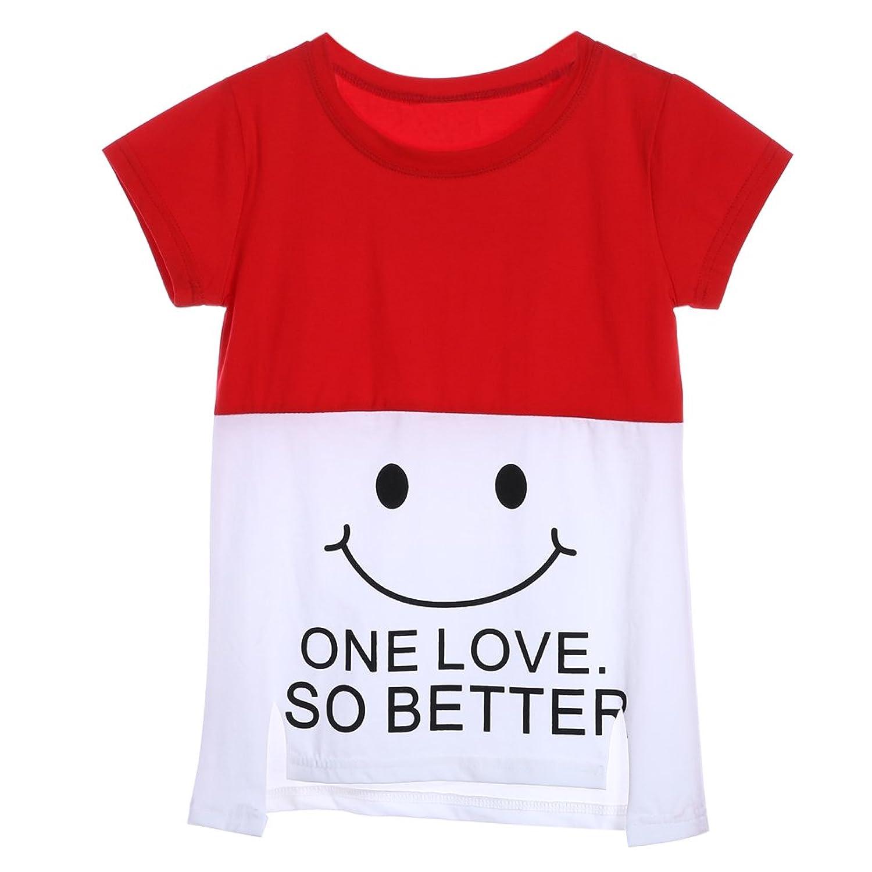 La Cabina T-shirt Fille   T-shirt Doux Enfants T-shirts Manches Courtes f47f8e8401c