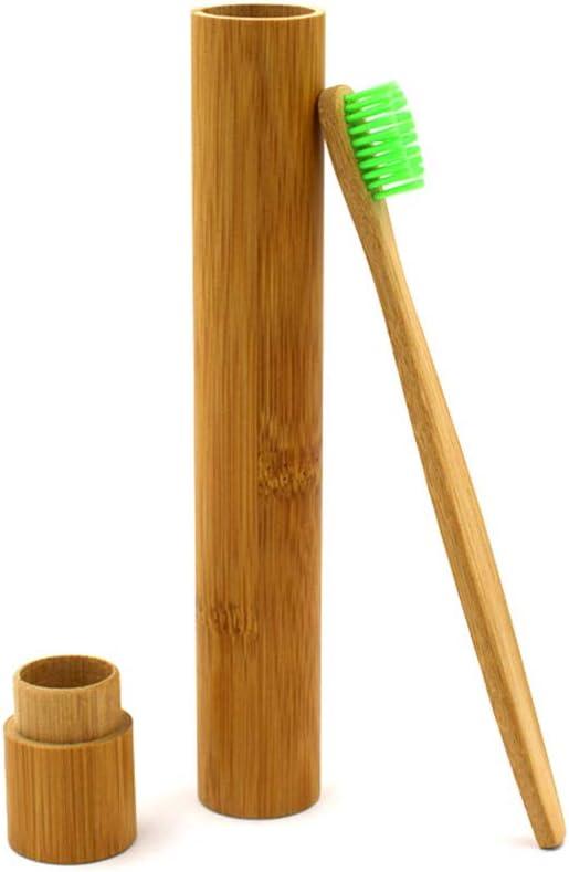 Fdit Estuche para Cepillo de Dientes Portátil Ecológico de Bambú ...