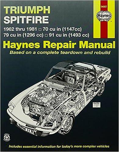 Triumph Spitfire 6281 Haynes Repair Manuals Haynes