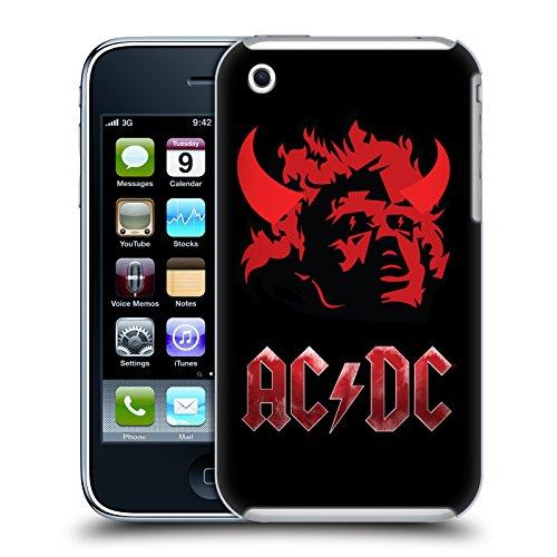 Officiel AC/DC ACDC La Tête De Diable Iconique Étui Coque D'Arrière Rigide Pour Apple iPhone 3G / 3GS
