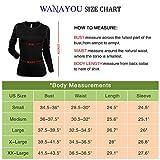 WANAYOU Women's Compression Shirt Dry Fit Long