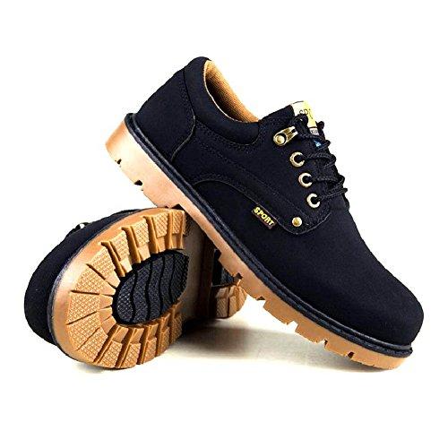 Shoes Zapatos Senderismo Oxford Adventure Hombre Botines Náuticos Con Para Zapatillas Botas negro Cordones Minetom Trekking Zapatos Adulto xqIXPf