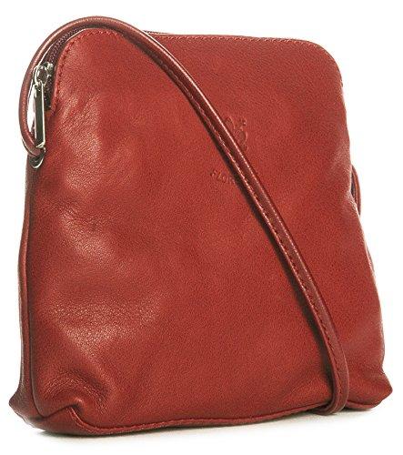 Big Handbag quaie, mini donna a portata di mano per cross-il corpo è realizzato in pelle italiana Rosso (rosso)