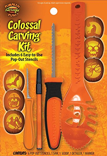 10 Piece Colossal Pumpkin Carving Kit - Party Supplies(Assorted -