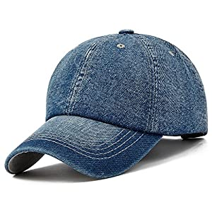 STARWO Cotton Denim Baseball Cap Unisex Fashion Cowboy Hat Adjustable