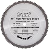 Freud LU89M015 15-Inch 108 Tooth Non-Ferrous Metal Cutting Saw Blade with 1-Inch Arbor
