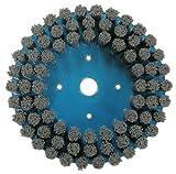 Weiler Silicon Carbide Bristle Disc - Medium Grade - Arbor Attachment - 7/8 in Center Hole - 8 in OD, 0.04 in Bristle Dia & 2000 Max RPM - 85914 [PRICE is per BRUSH]