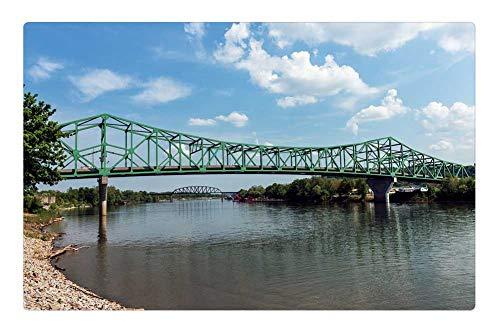 Tree26 Indoor Floor Rug/Mat (23.6 x 15.7 Inch) - West Virginia Bridge Point Pleasant River Water