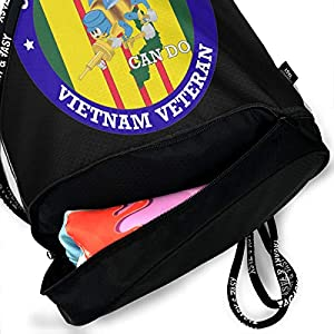 PLO US Navy Seabees Vietnam Veteran Drawstring Backpack Drawstring Bag Bundle Backpack Sport Bag from PLO