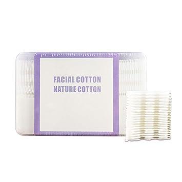 Almohadillas de Algodón de Maquillaje, Kapmore 6 Paquetes de Toallitas Desmaquillantes 100% Algodón Almohadillas de Algodón Suave de Limpieza Facial ...