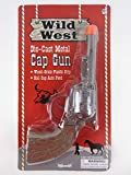 Big Game Toys~Wild WEST die-cast Metal Pistol Western Cowboy Toy Cap Gun Paper Roll Caps