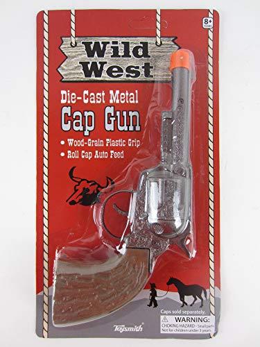Big Game Toys~Wild WEST die-cast Metal Pistol Western Cowboy Toy Cap Gun Paper Roll Caps (Roll Caps)