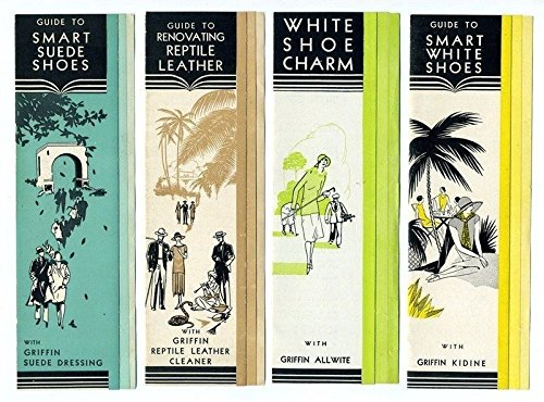 4 Griffin Shoe Polish Brochures and Price List 1931 Reptile Suede White Shoes - 1931 Postcard