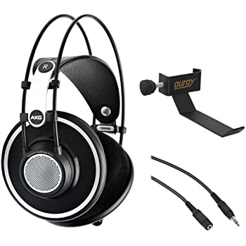 AKG K 702 Reference-Quality Open-Back Circumaural Headphones with Clamp On  Headphone Holder and Stereo Mini Male to Stereo Mini Female Extension Cable  25  cc19a34f74