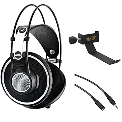 9999a470505 AKG K 702 Reference-Quality Open-Back Circumaural Headphones with Clamp On  Headphone Holder
