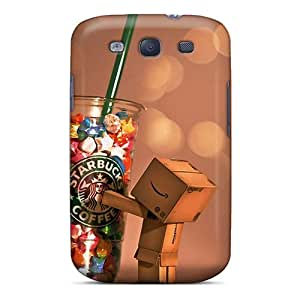 Anti-Scratch Hard Phone Cover For Samsung Galaxy S3 With Support Your Personal Customized Realistic Danbo Starbucks Pattern LeoSwiech