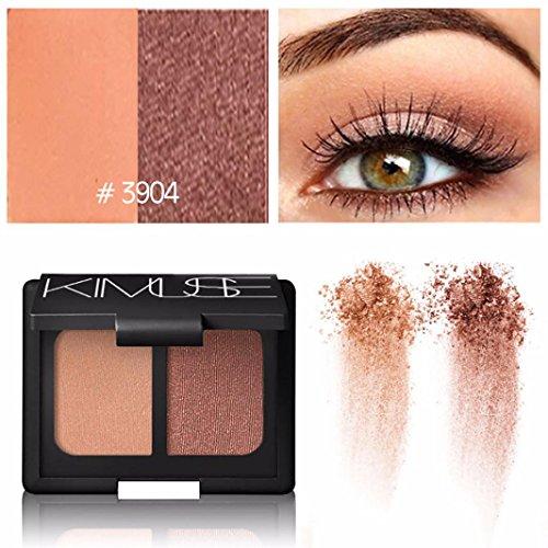 Olive Champagne - YJYdada Cosmetic Makeup Shimmer Matte 2 Colors Eyeshadow Palette Sombras (E)