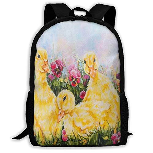 Backpack Lightweight YELLOW DUCKLINGS FLUFFY FLOWER for Men/Women Hiking