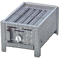 Tischbräter klein silber Tableroaster 1-flammig Balkon ✔ eckig ✔ Grillen mit Gas ✔ für den Tisch