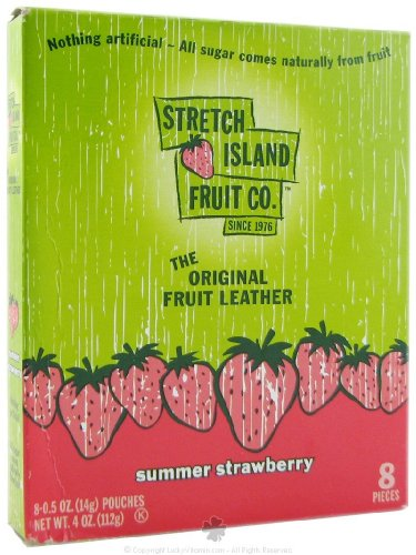 STRETCH ISLAND FRUIT LEATHER,STRAWBERRY, .5 OZ by Stretch Island Fruit