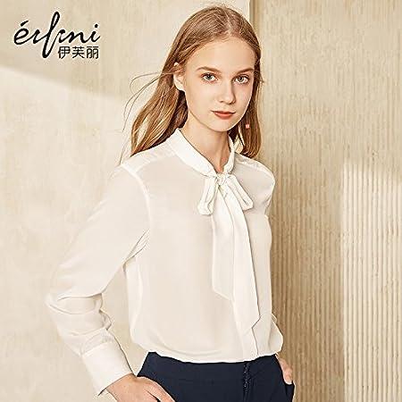 XXIN La Nieve/T-Shirt Mujer Camiseta Long-Sleeved Seda Tejida ...