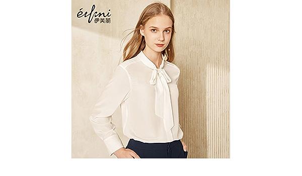 XXIN La Nieve/T-Shirt Mujer Camiseta Long-Sleeved Seda ...