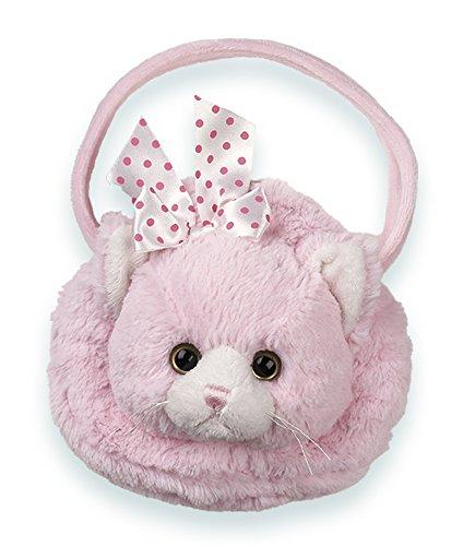 Bearington Meow Meow Carrysome, Girls Plush Pink Kitty Stuffed Animal Purse, Handbag 7 ()